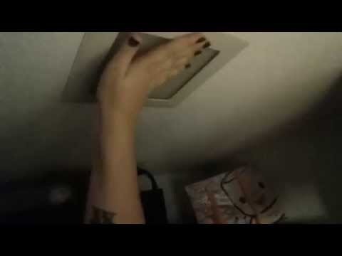 Changing the lightbulb in the closet