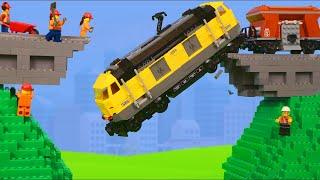 Lego Excavator - Construire un pont pour les trains jouets pour enfants - Excavator Toys for kids