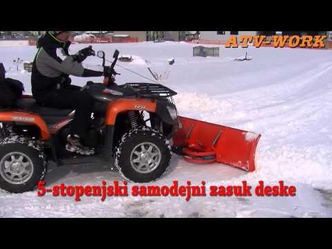 ATV Snow Plow - ATV Work