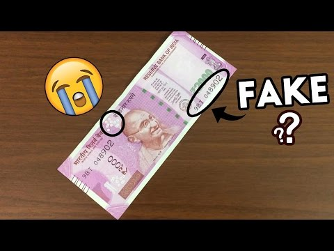 How to identify fake indian currency notes (online)