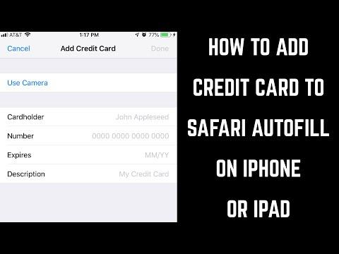 How to Add Credit Card to Safari AutoFill on iPhone or iPad