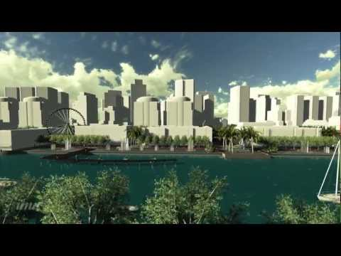 New Water Front District in China