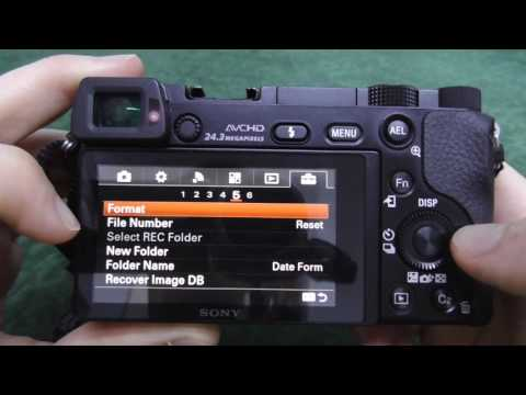 A6000: How to Format the Memory Card