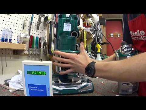 Shark Vacuum particle HEPA Filter test