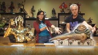 Download Titus Welliver and C-3PO Reveal Jabba the Hutt & Throne Sixth Scale Figure! Video
