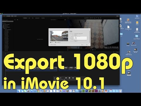 How to Export to 1080p in iMovie 10.1