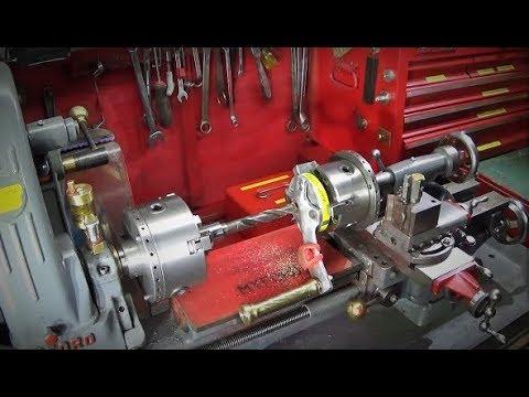 Using A Myford ML7 Tail-Stock Mounted Chuck Modifying Mandrel Handle
