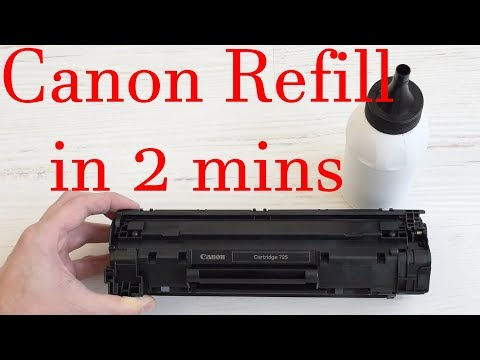 How to refill in 2 minutes Canon 125, Canon 137, Canon 725, Canon 728, Canon 925 Toner Cartridges
