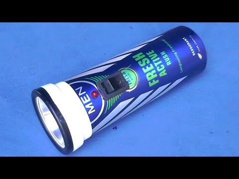 How to Make A Torch/Flashlight Using Old Body Spray Bottles