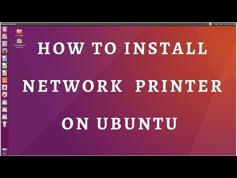 How to install network printer on ubuntu 17.04,16.04,14.04,12.04