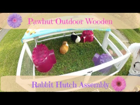 Pawhut Outdoor Wooden Rabbit Hutch Assembly (Go-Pro)