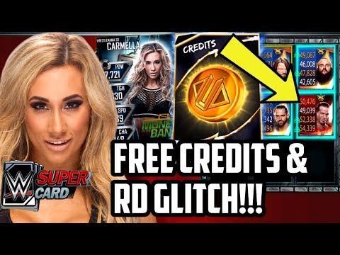 WWE SUPERCARD FREE CREDITS & RD GLITCH!!!