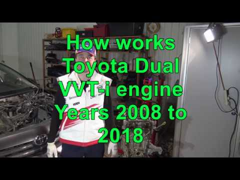 How works Toyota Corolla Dual VVT-i engine years 2008 to 2018