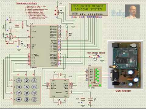 SMS based Security System using Microcontroller | Electronics Projects