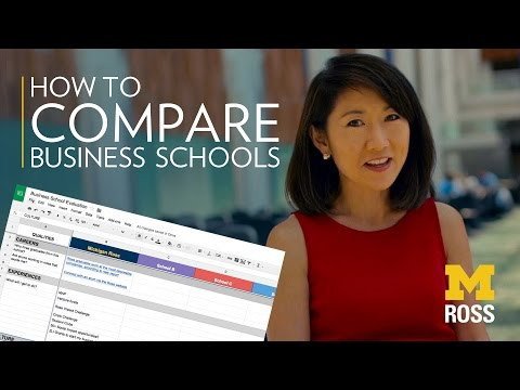 How to Compare Business Schools