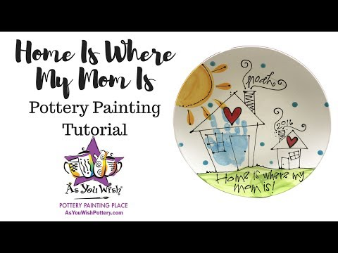 Home is Where My Mom Is Plate|As You Wish Pottery
