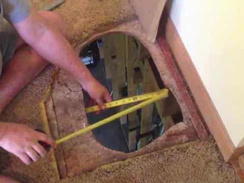 How to fix a hole in the floor - subfloor repair DIY