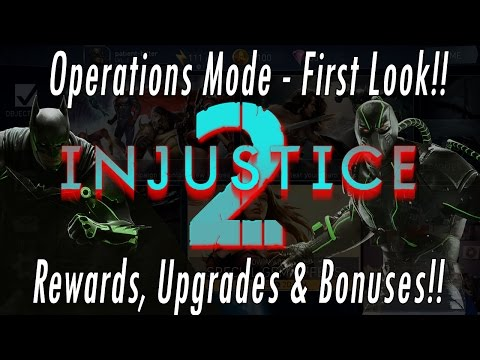 First Look At Operations Mode - NEW 2017 Injustice 2 Mobile Game Operations Gameplay Rewards Review
