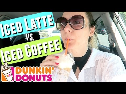 THE CHEAPER & BETTER VERSION OF A CARAMEL ICED LATTE | Dunkin Donuts