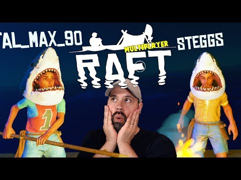 Attack Of The Shark People   RAFT Survival Multiplayer Gameplay   E3