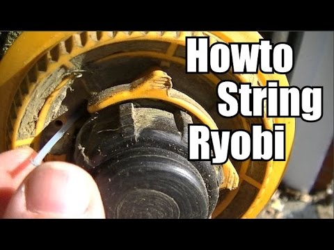 Howto string a Ryobi trimmer