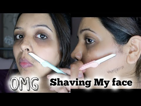 I SHAVED MY WHOLE FACE ..... OMG !!