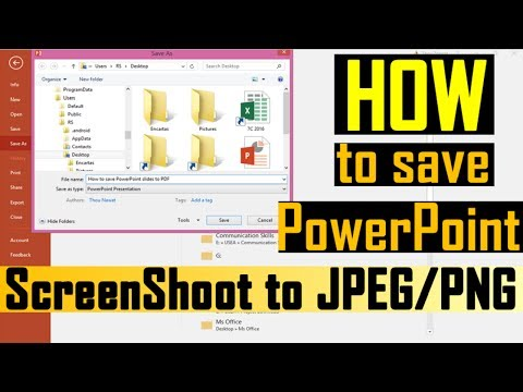 How to save pictures from powerpoint | Save PowerPoint slides as images