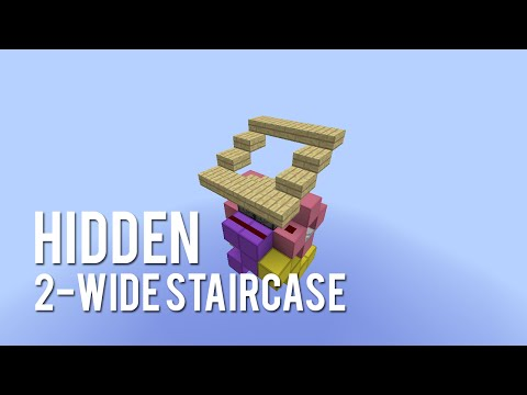 Redstone: Hidden 2-Wide Staircase [Tutorial]