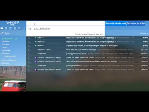 Archiver ses emails avec Yahoo Mail