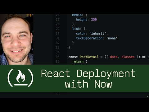 React Deployment with Now (P5D63) - Live Coding with Jesse