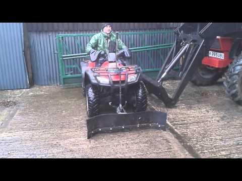 Home made Quad ATV yard scraper or snow plow Honda TRX 350
