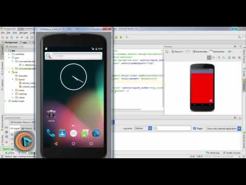 Android Studio background color & image