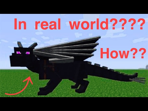 How to summon  an ender dragon in the real world minecraft pe without mods.