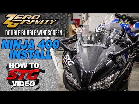 Zero Gravity Kawasaki Ninja 400 Double Bubble Windscreen Install | Sportbike Track Gear