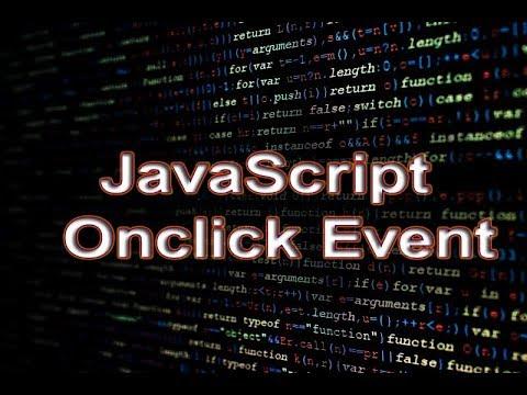 JavaScript Onclick Event.
