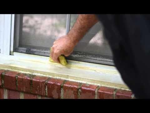 DROP-OFF Vinyl Siding Cleaner Video (Window Sill Mildew)