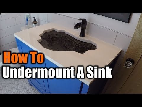How To Undermount A Sink | THE HANDYMAN | 1940s Bathroom Remodel