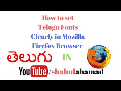 How to Set telugu fonts clearly in mozilla firefox