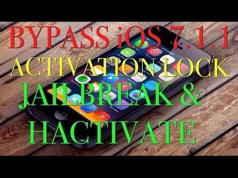 BYPASS ACTIVATION LOCK / HACTIVATE & JAILBREAK iOS 7.1.1 WITHOUT A SIM CARD FOR iPhone 4 - Tethered