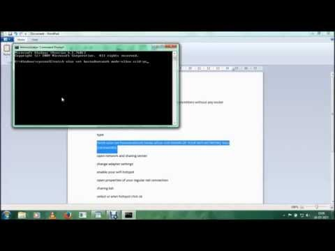 creating a wifi hotspot (ssid method) using cmd