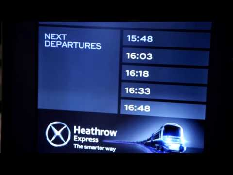 Heathrow Express - Live Airport Transfer Options at Heathrow Airport