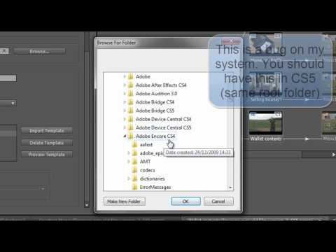 Adobe Encore Basics 5: Creating a Web DVD