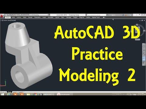 AutoCAD 3D modeling tutorial   AutoCAD 3D Modeling 25