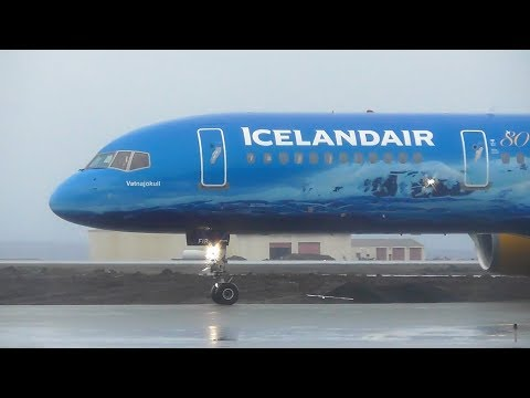 8 Minutes of Plane Spotting at Keflavik Airport, Iceland