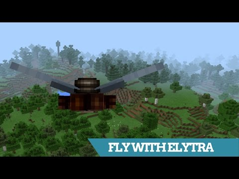 Minecraft PE   How To Fly With The ELYTRA WINGS (0.17.0 / 1.0 End Update)   Tutorial