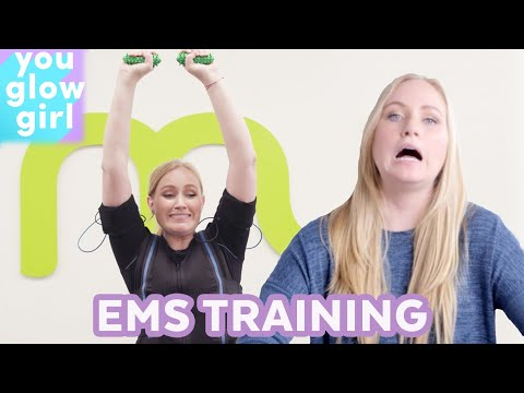 2 Hour Workout in 15 Minutes?! Trying EMS Training | You Glow Girl