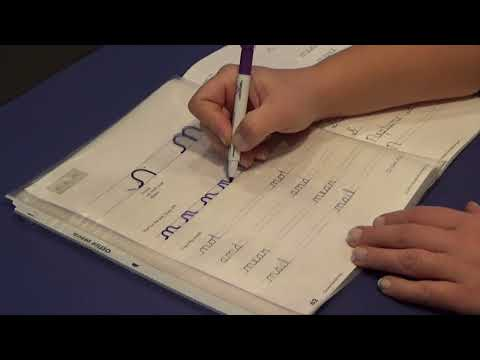 Page 62 - Lower case cursive n instruction.  Handwriting Without Tears