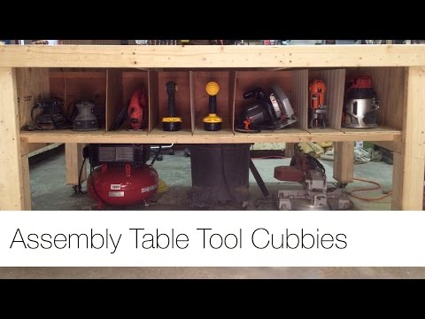 Tool Cubbies for my Assembly Table