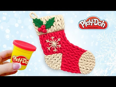 Play Doh Christmas Gift Stocking. Make Toy Out of Play Doh Clay DIY. Art and Craft for Kids