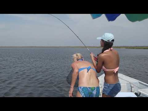 Catching a big redfish in Copano Bay, Rockport, TX.